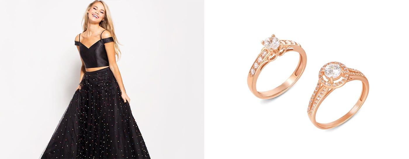 Золотые кольца с фианитом купить