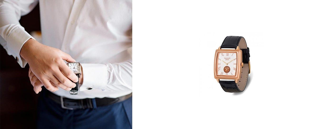 квадратные мужские наручные часы недорого
