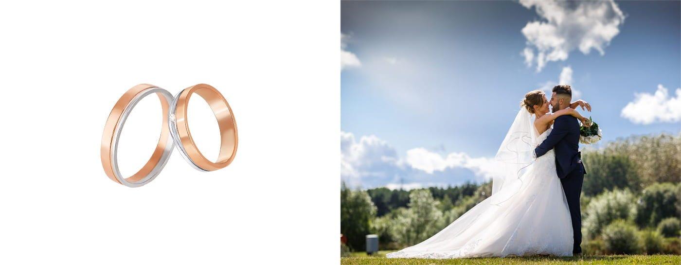 Обручальные кольца из драгоценного металла разного цвета купить