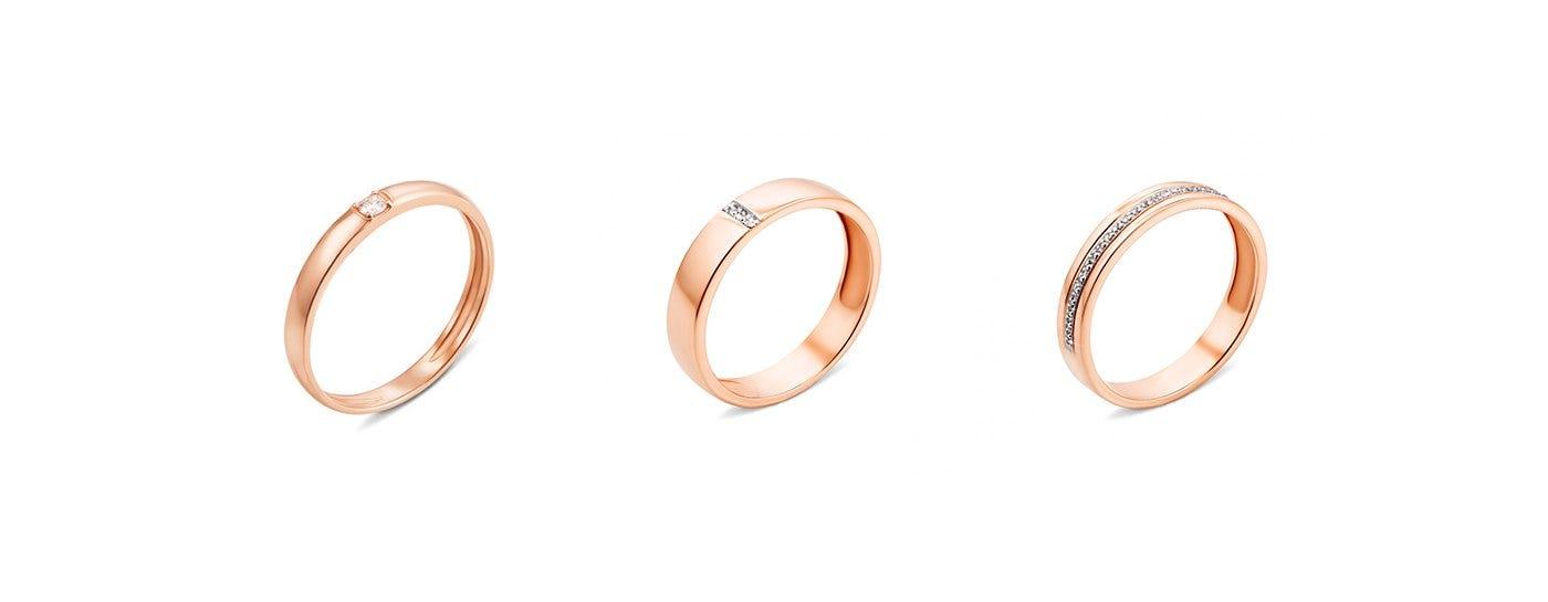Обручальные кольца с бриллиантами Золота Країна недорого