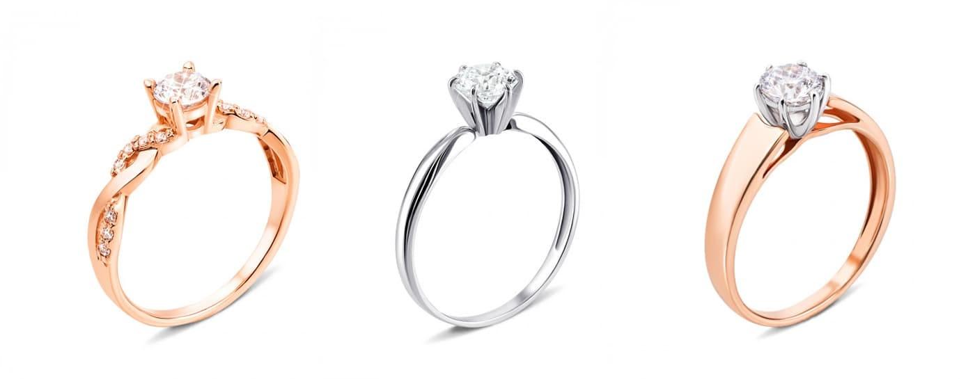 Помолвочные кольца с бриллиантами Золотой Век и Золота Країна